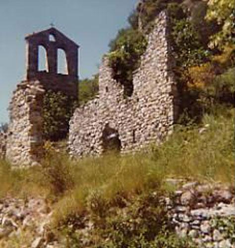 Photographie de la vieille église abandonnée